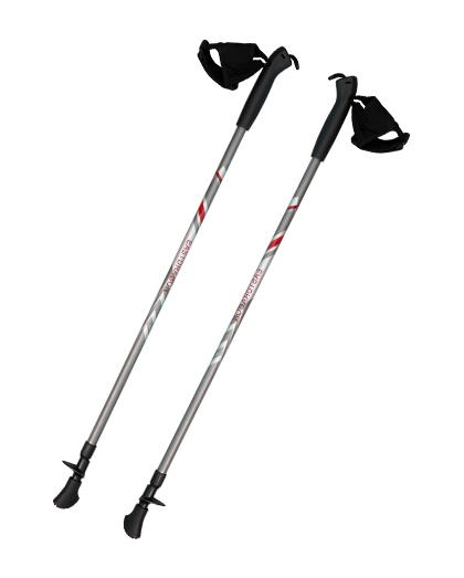供应优质铝合金北欧手杖,易于取下夹式手套