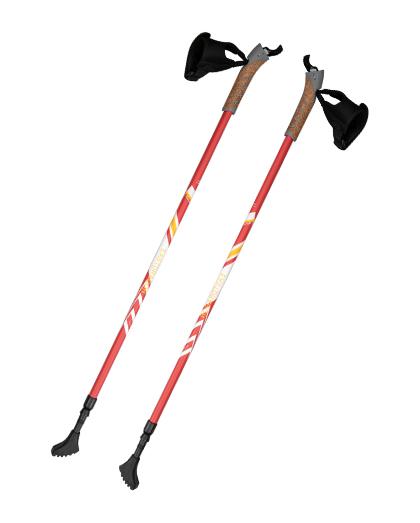 厂家直销供应优质2节软木手柄铝制6061北欧手杖