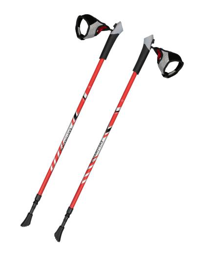 厂家直销供应优质铝合金防震伸缩北欧手杖
