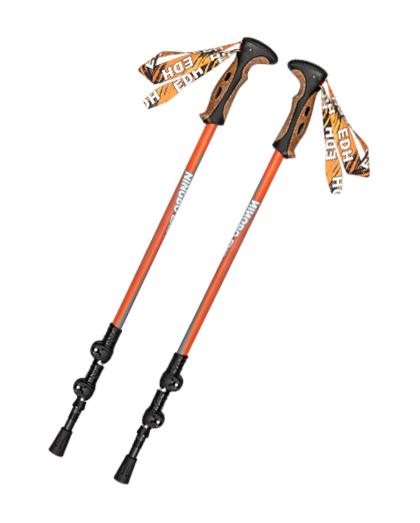 供应优质EVA铝合金软木手柄登山杖速度锁定伸缩伸缩登山杖