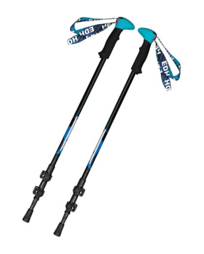 供应优质EVA握力三节伸缩碳纤维登山杖,带速度锁定系统