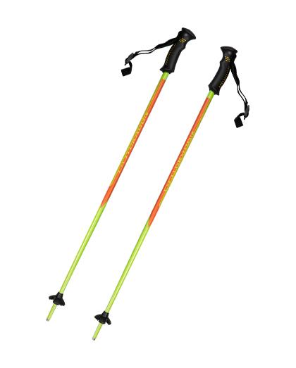 供应优质1节铝制滑雪杖,带两种颜色的塑料手柄