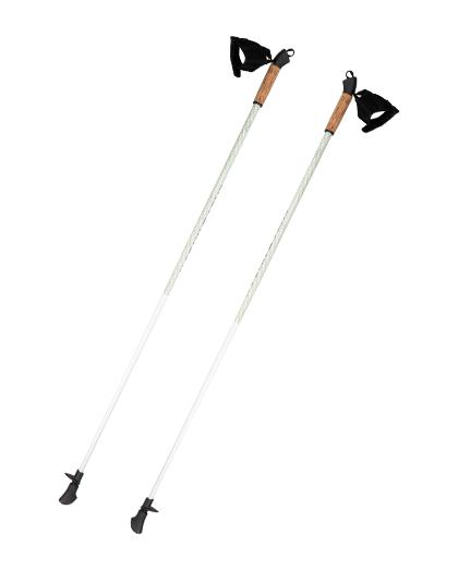 厂家直销供应优质高品质超轻碳纤维手杖OEM 2段可调式北欧手杖