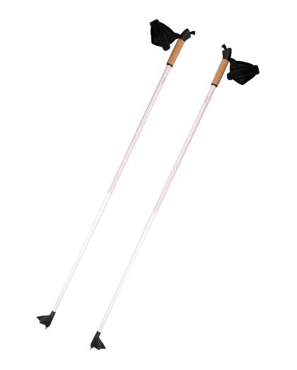 厂家直销供应优质轻质铝合金越野滑雪杖,带软木手柄