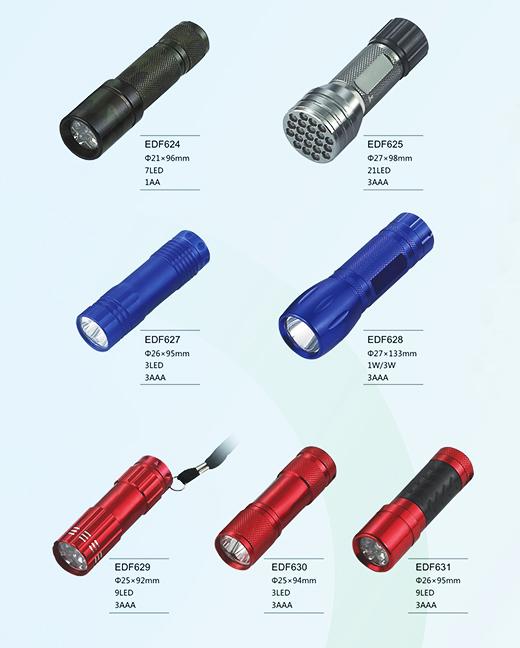 大功率铝合金LED手电筒